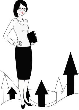 PR specialist in white-black variation
