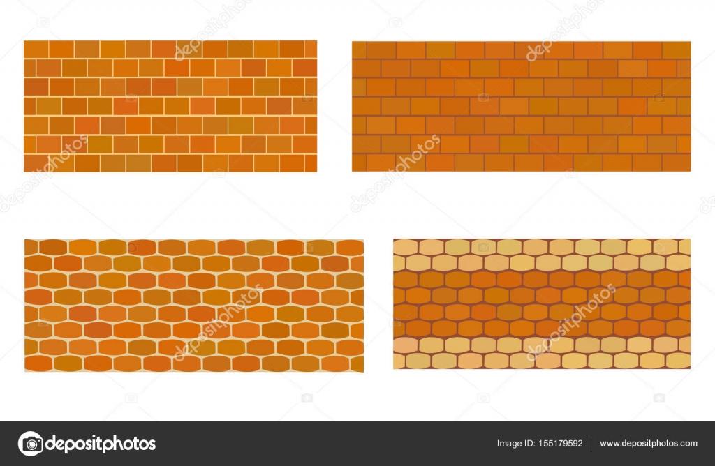 Different Type De Mur différents types de mur en pierre pour jardin — image vectorielle