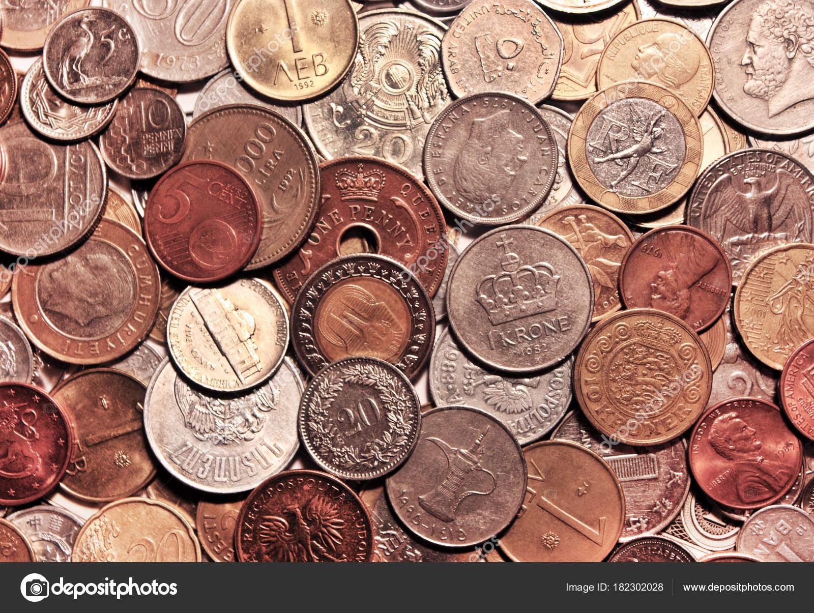 Hintergrund Von Placer Währungen Verschiedener Länder Stockfoto