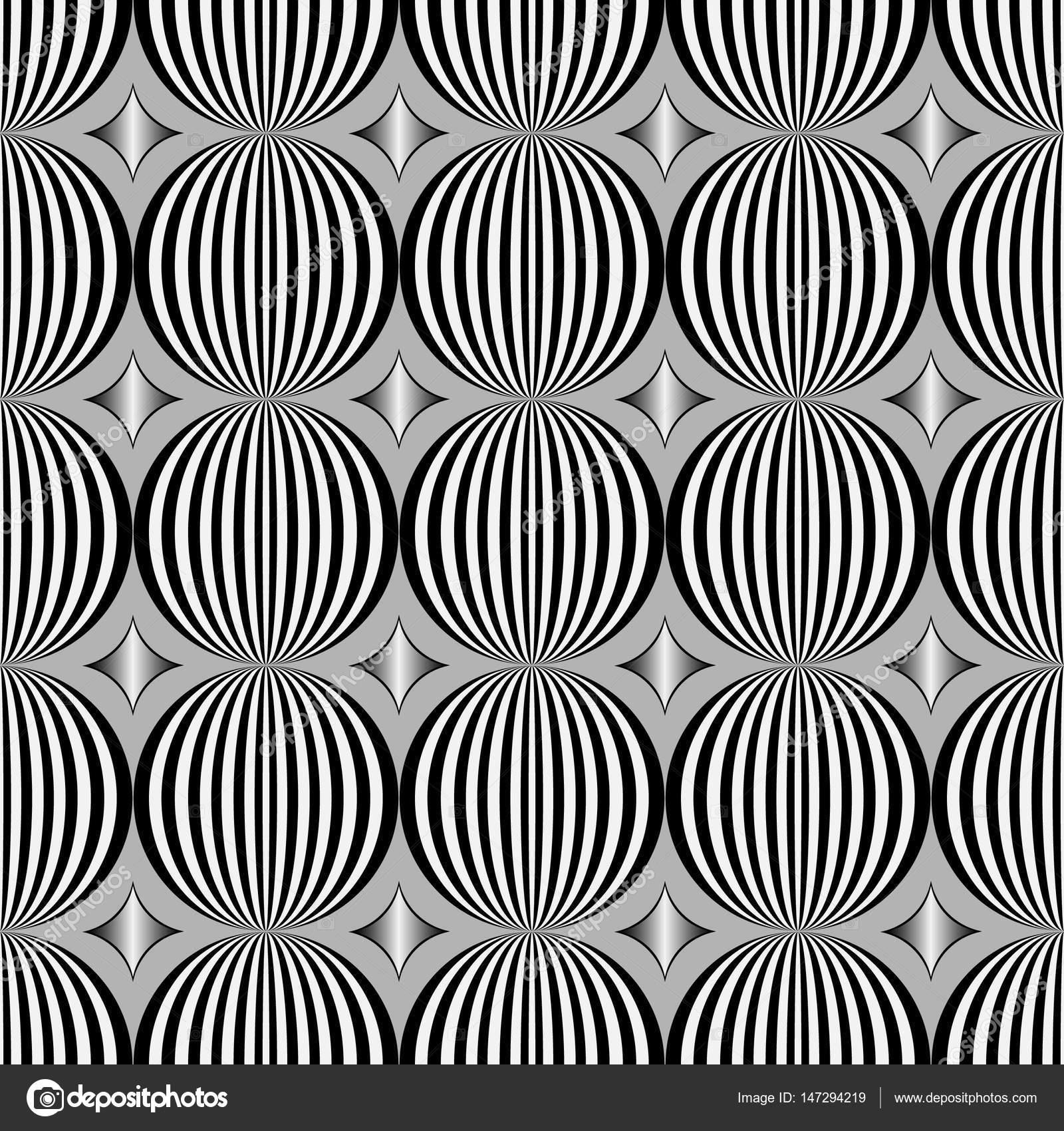 Nahtlose Muster, Einfache Minimal Textur. Regelmäßig Sich Wiederholende  Geometrische Fliesen Mit Rauten, Kreise