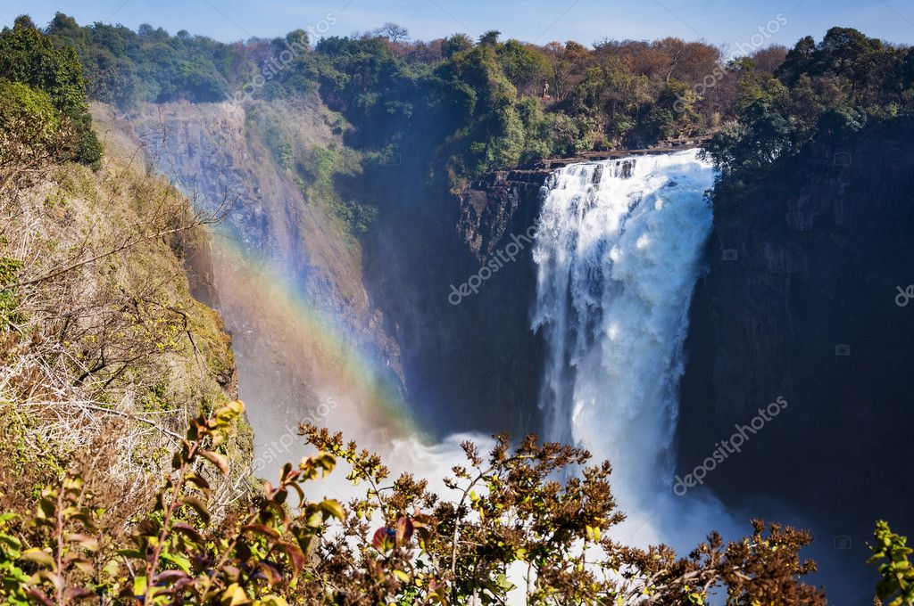 View of the Victoria Falls in Zimbabwe, Africa