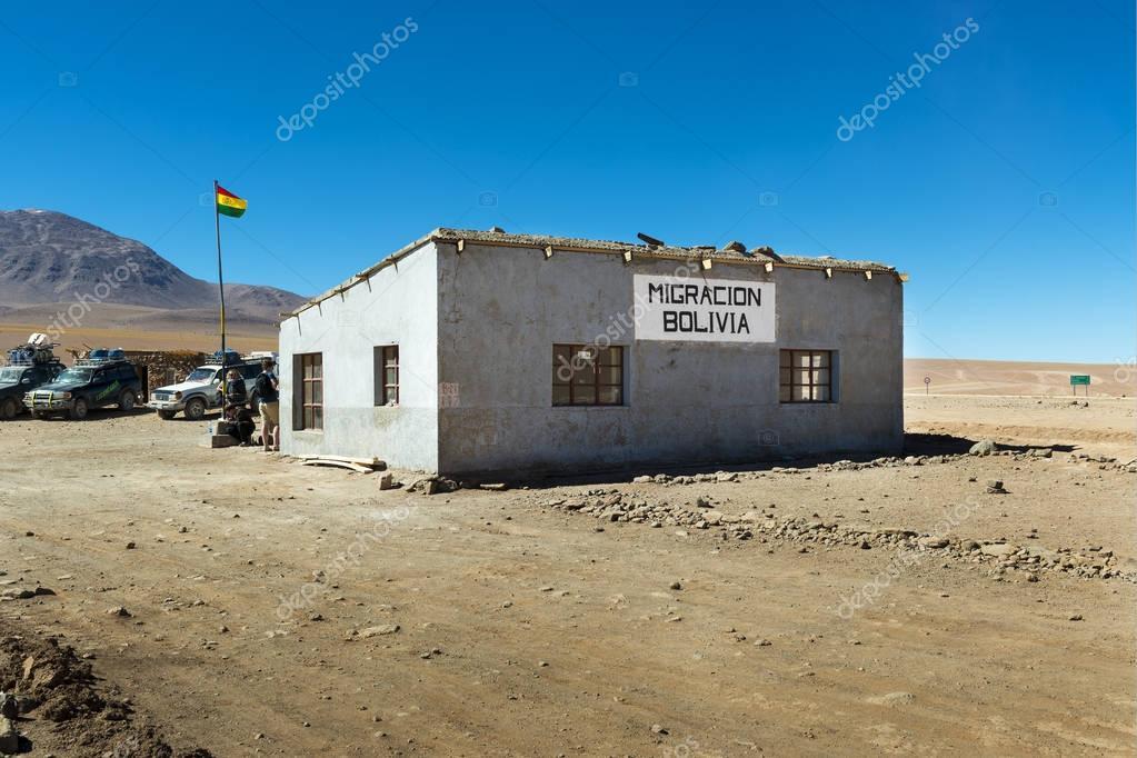 Vue sur le bureau de douane à la frontière entre le chili et la