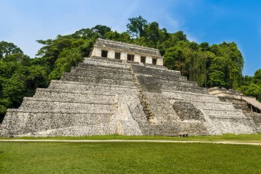 Temple of Inscriptions in the ancient Mayan city of Palenque, Chiapas, Mexico