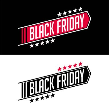 Black Friday sale inscription design template set