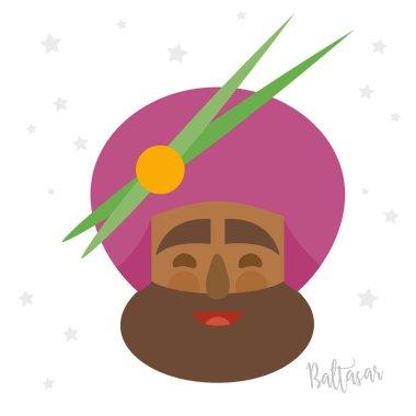 king Balthazar. christmas ornament isolated