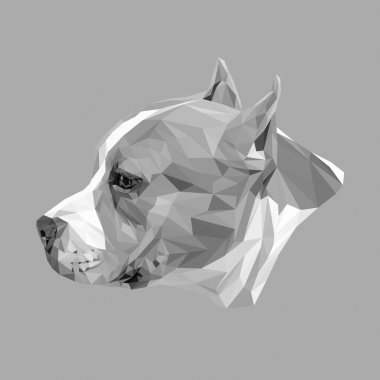 tafford dog animal low poly design
