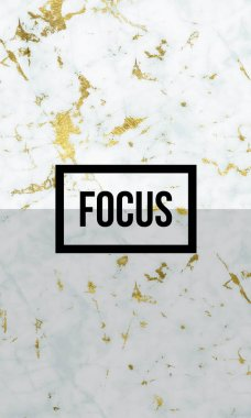 Focus motivational word