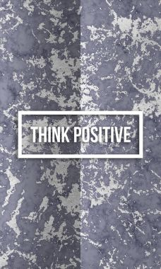 think positive slogan