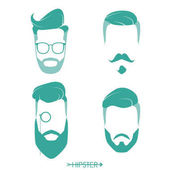 Fotografie Set of hipster man haircuts