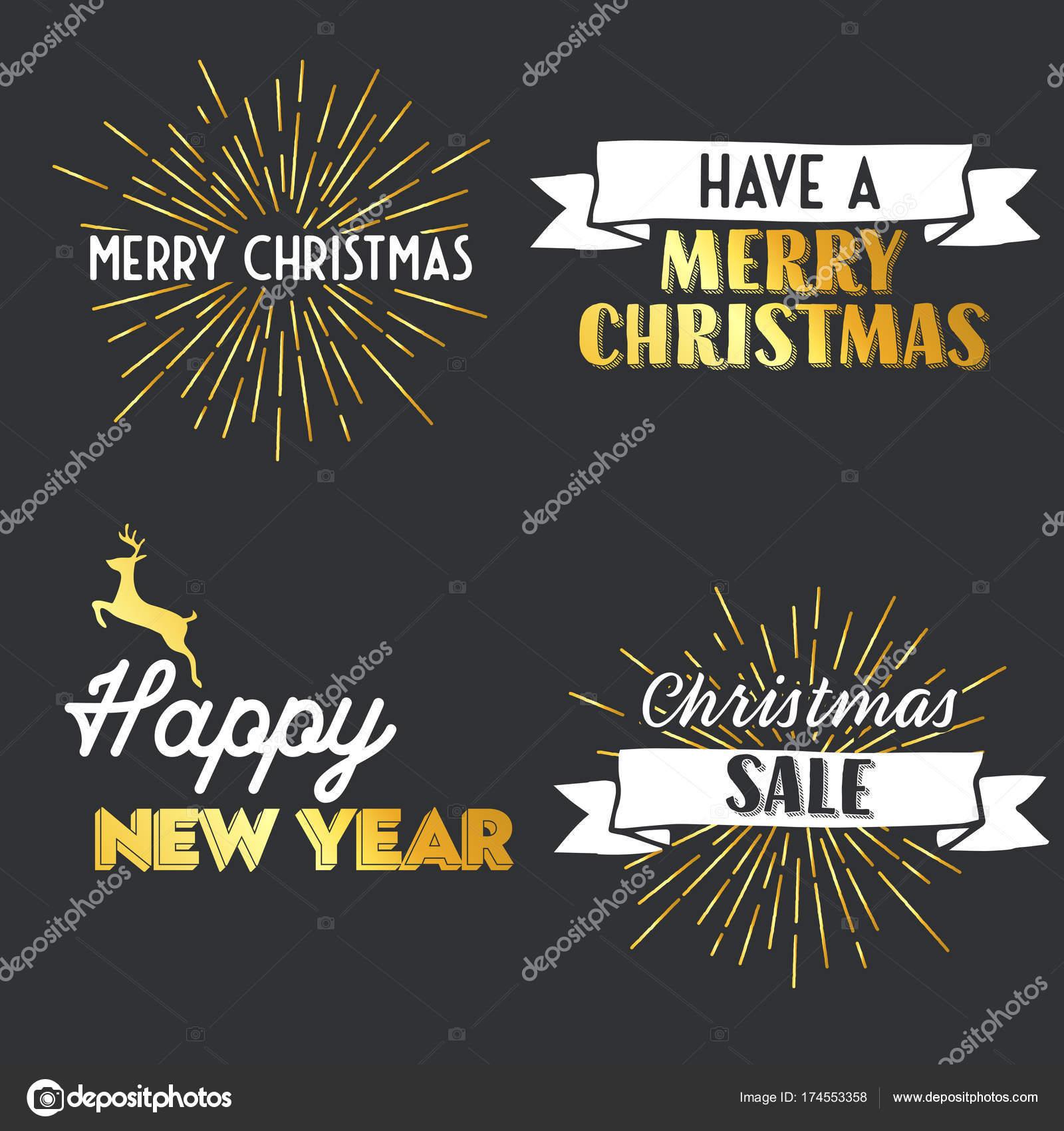 New Year and Merry Christmas signs — Stock Vector © Shekularaz ...