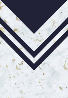 abstract background with light marble texture and navy blue geometric elements