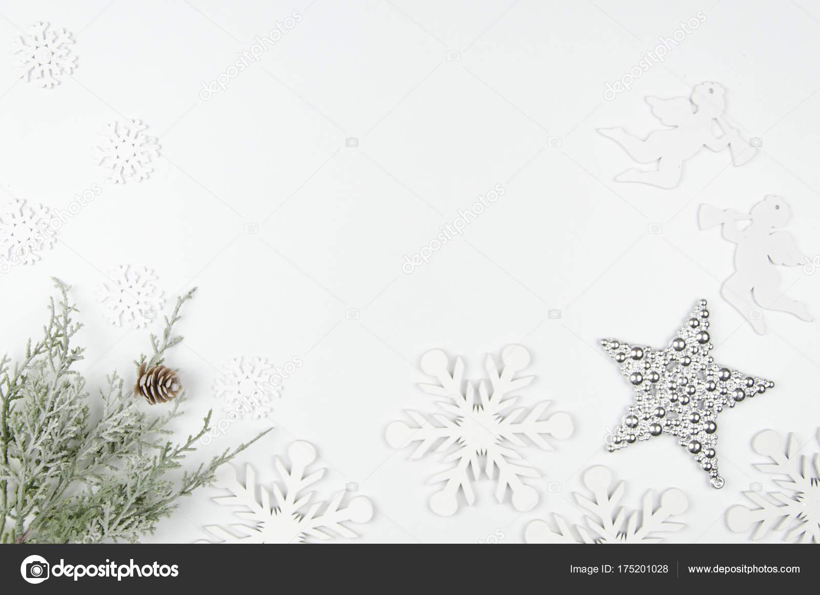 Weihnachten Mockup flach legen gestaltete Szene mit Weihnachten ...