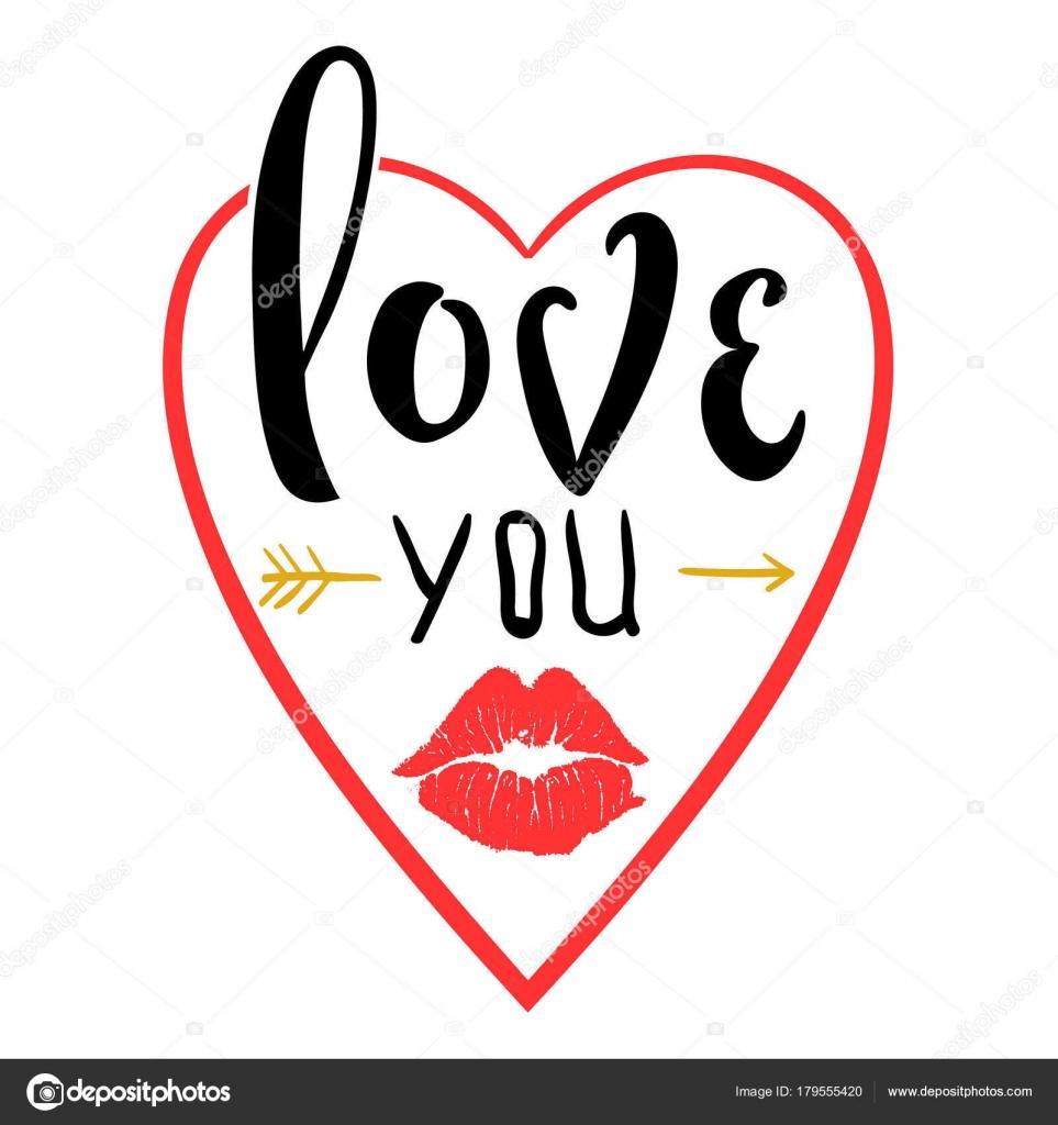 Imagenes Besos Sensual Frases Cartel Romantico Con Letras De Mano