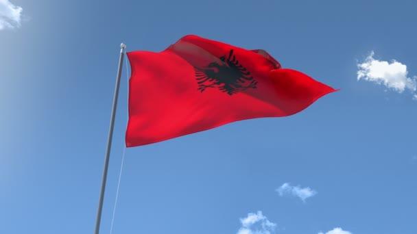 Flag of Albania Waving