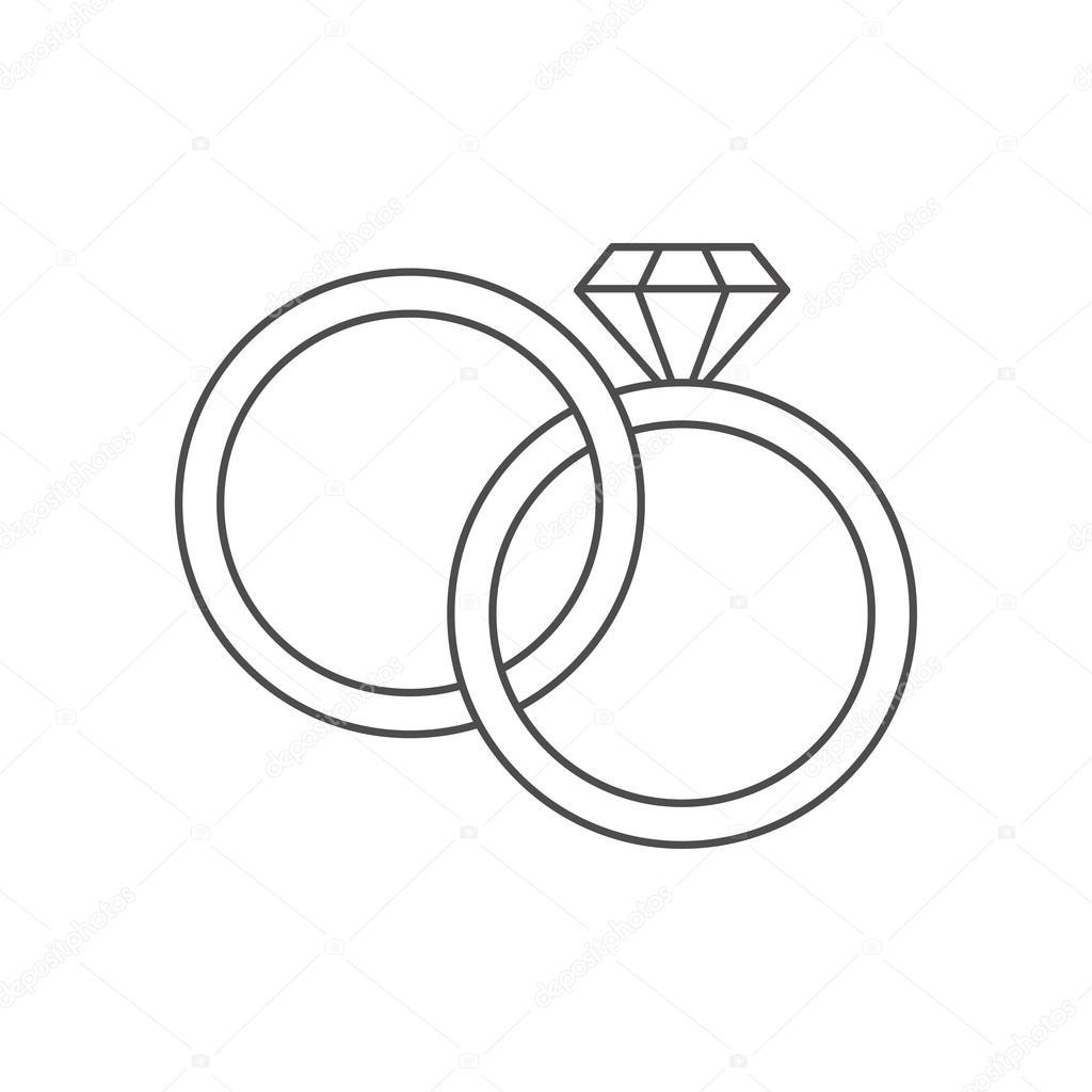 Isolierte Ringe Hochzeit Design Stockvektor C Jemastock 125112394