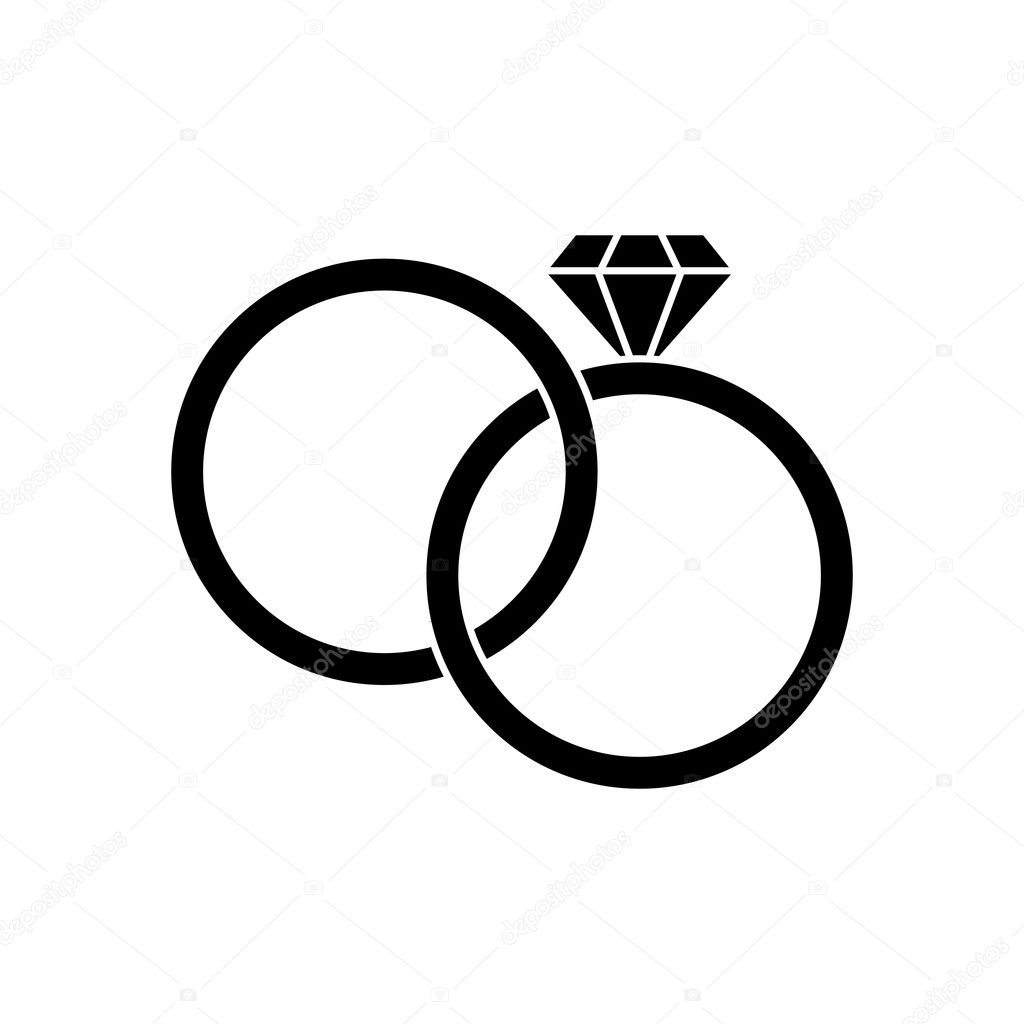 Isolierte Ringe Hochzeit Design Stockvektor C Jemastock 125112562
