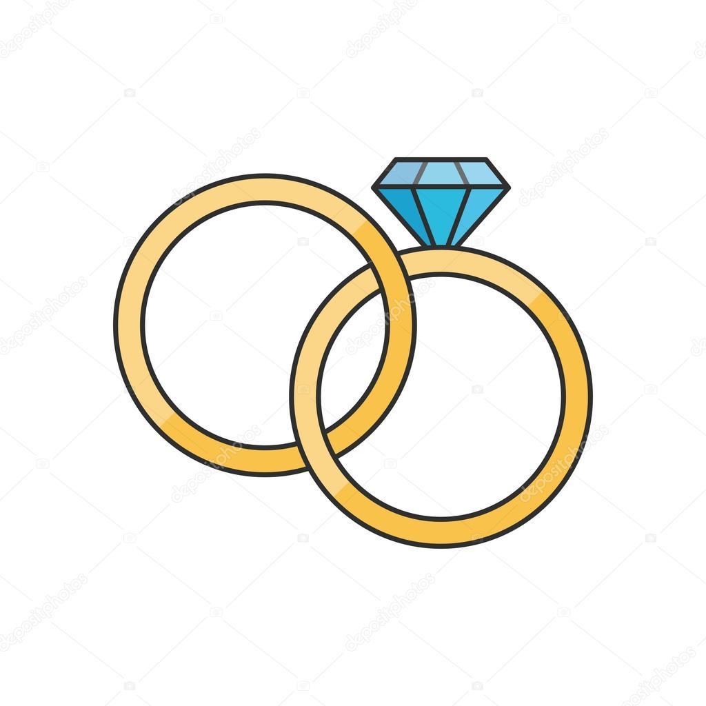 Isolierte Ringe Hochzeit Design Stockvektor C Jemastock 125112838