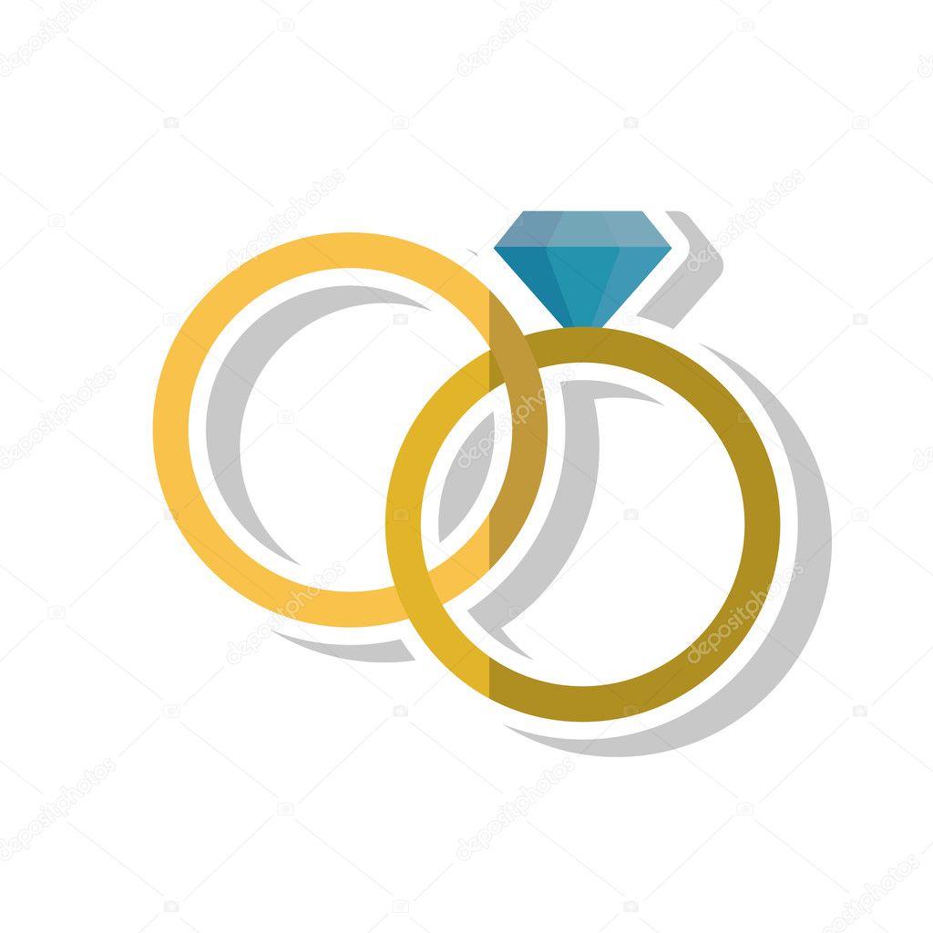 Isolierte Ringe Hochzeit Design Stockvektor C Jemastock 125113178