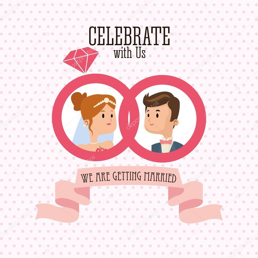 Wedding and marriage couple design — Stock Vector © jemastock #125168762