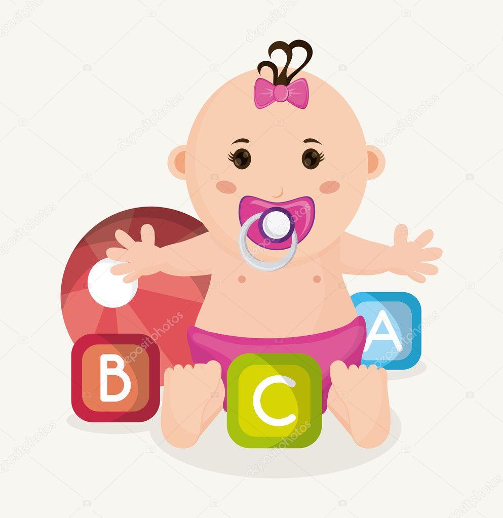 Imágenes Niña Bebe Dibujo Dibujos Animados De Niña Bebé Del