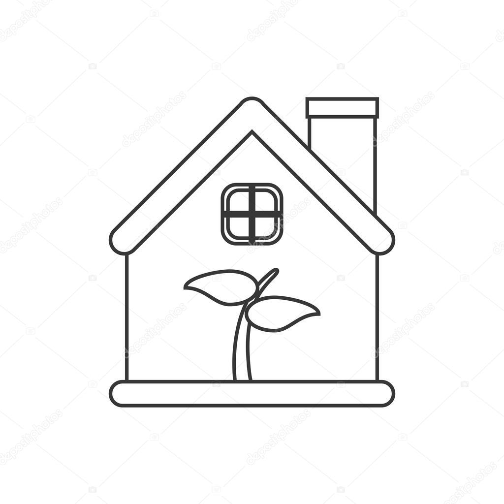 Peachy Isolated Leaf Inside House Design Stock Vector C Jemastock Download Free Architecture Designs Scobabritishbridgeorg