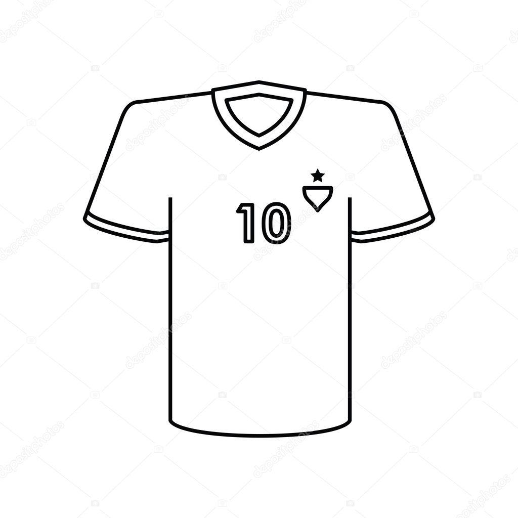 048aa362af1b8 Icono de la camiseta. Fútbol deporte afición competencia y juego de tema.  Diseño aislado. Ilustración de vector — Vector de ...