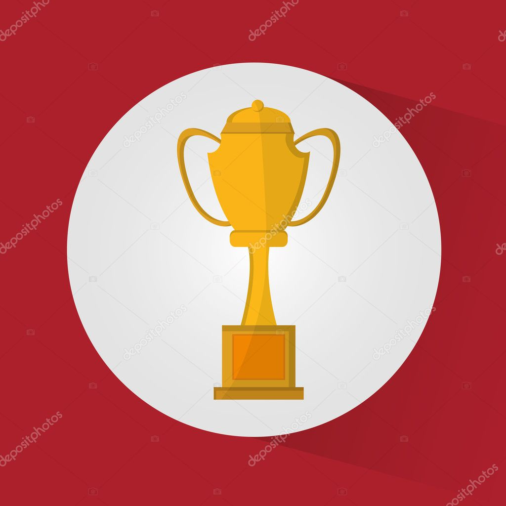 Isolated Gold Trophy Cup Design Stock Vector