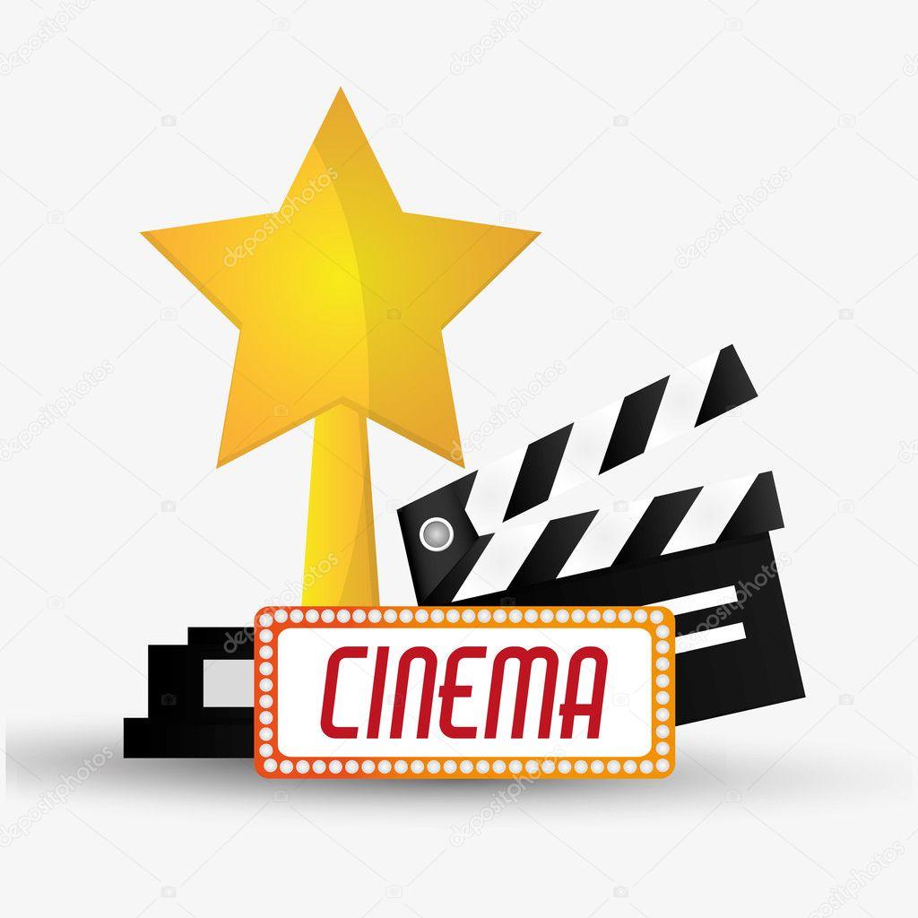 Schindel-Kino und Film-design — Stockvektor © jemastock #126695668