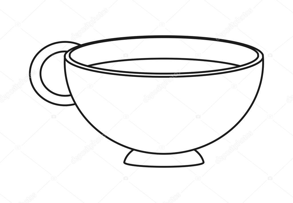 Disegno Della Tazza Di Caffè Isolata Vettoriali Stock Jemastock