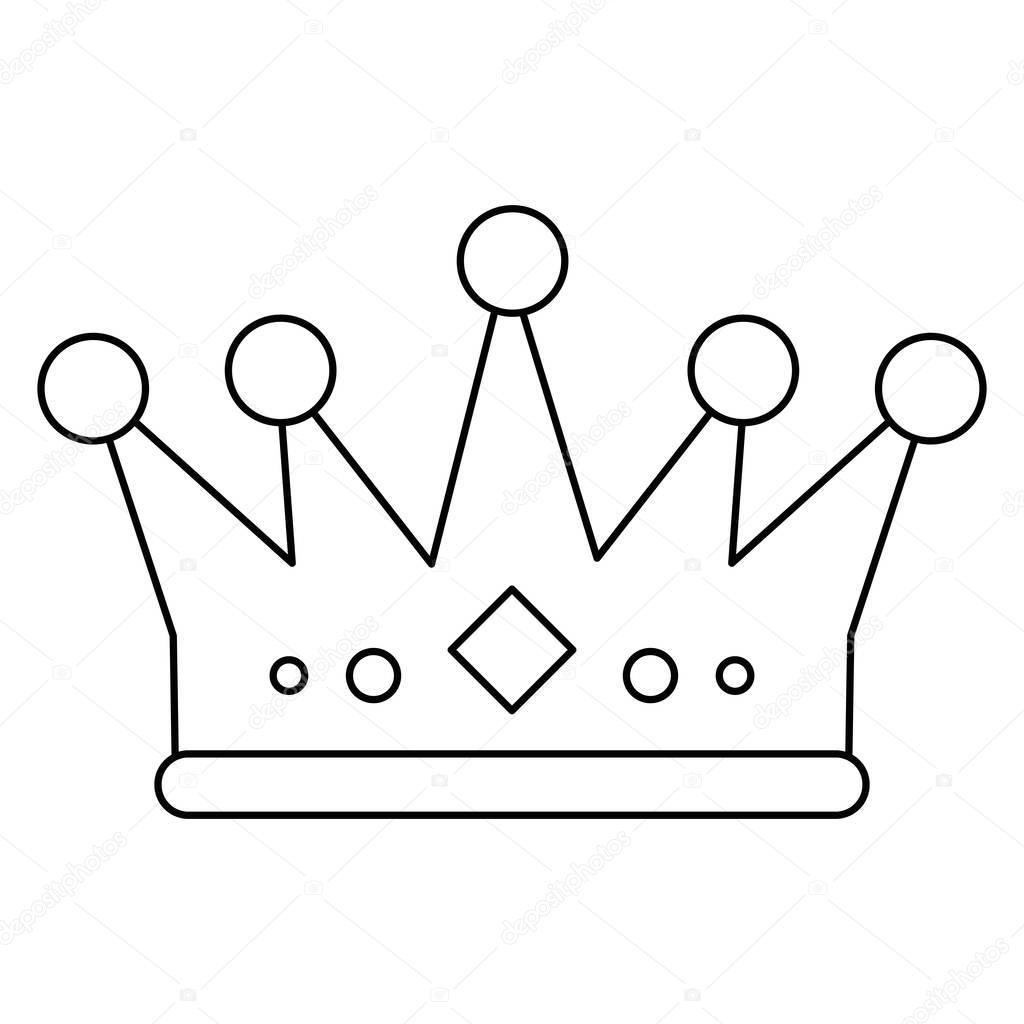 Geïsoleerde Royalty Kroon Ontwerp Stockvector Jemastock 129885204