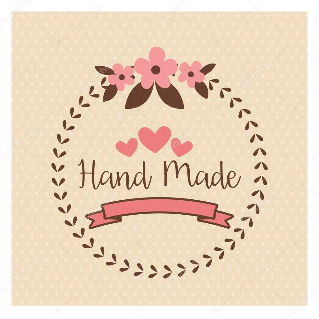 hand made label handmade crafts workshop stock vector jemastock