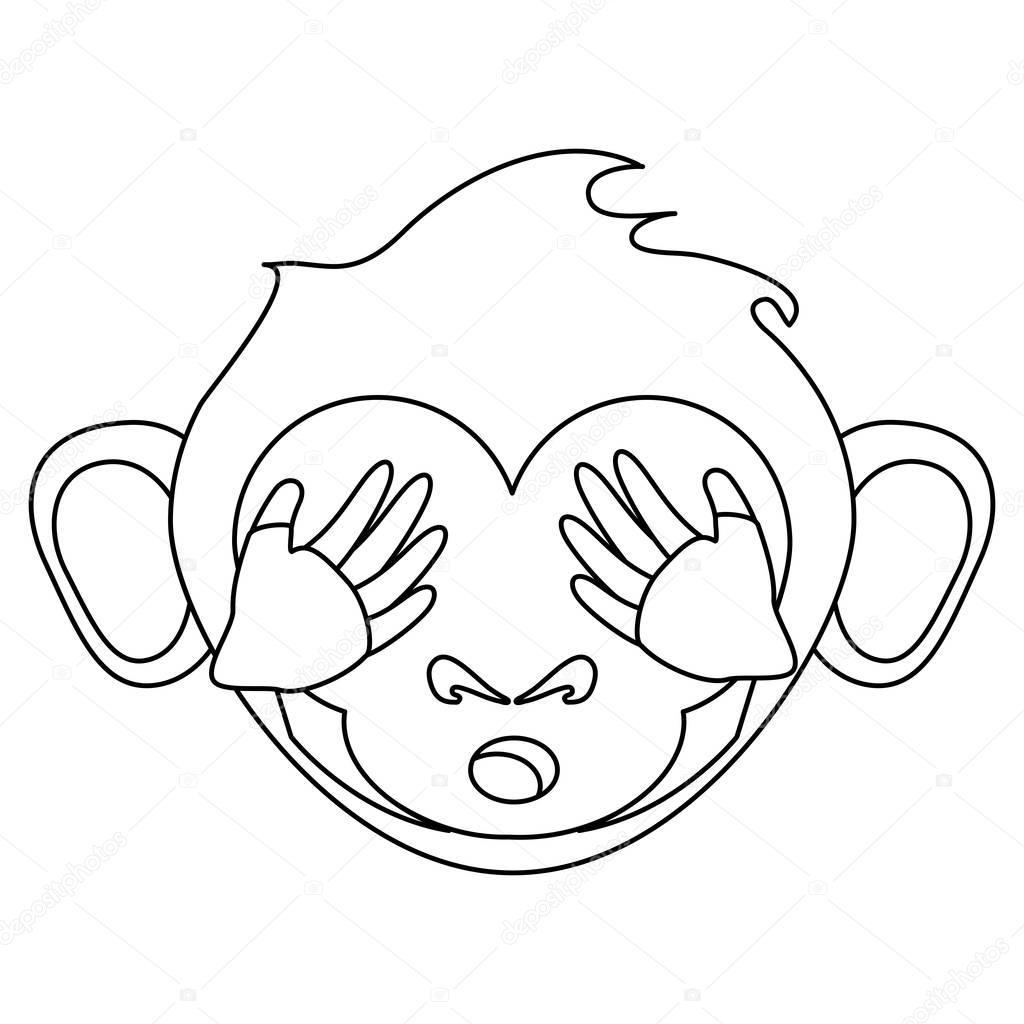 Caras De Mono Para Colorear Diseño De Cara De Dibujos