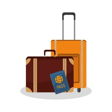 Isolated bag of travel design
