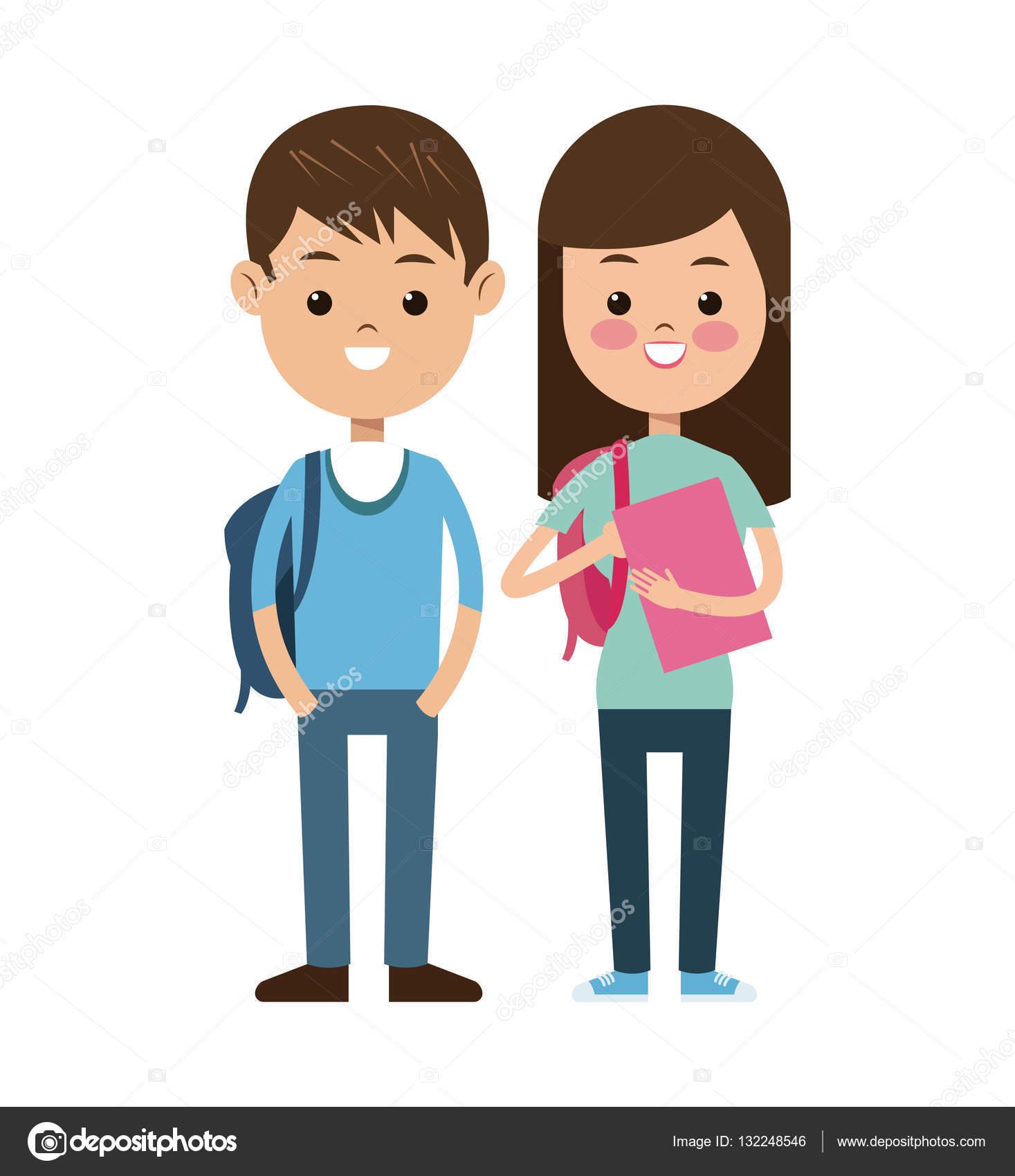 Torna A Sorridere Dei Bambini Di Studenti Di Scuola Coppia