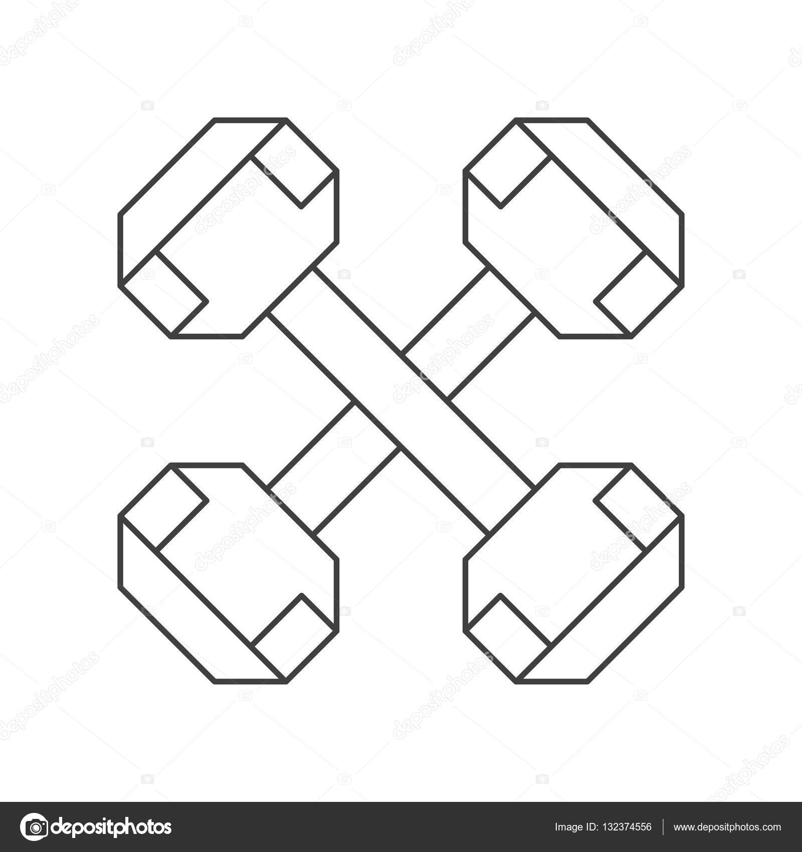 Dumbbell Outline Outline Dumbbell Weight Fitness Gym Icon