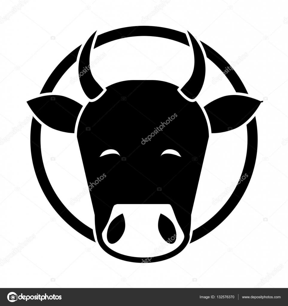 Hindistan Inek Kafası Stok Vektör Jemastock 132576370