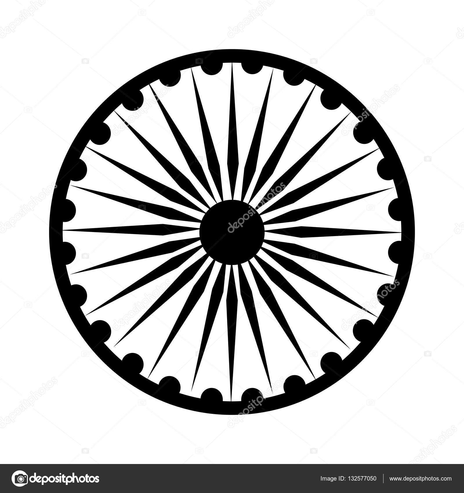 Ashoka Chakra Symbol Stockvektor Jemastock 132577050