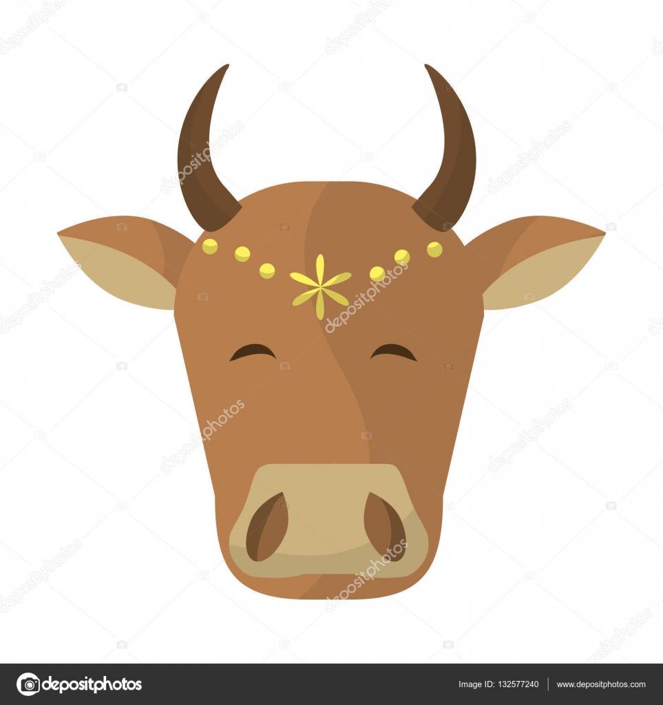 Hindistan Inek Kafası Stok Vektör Jemastock 132577240