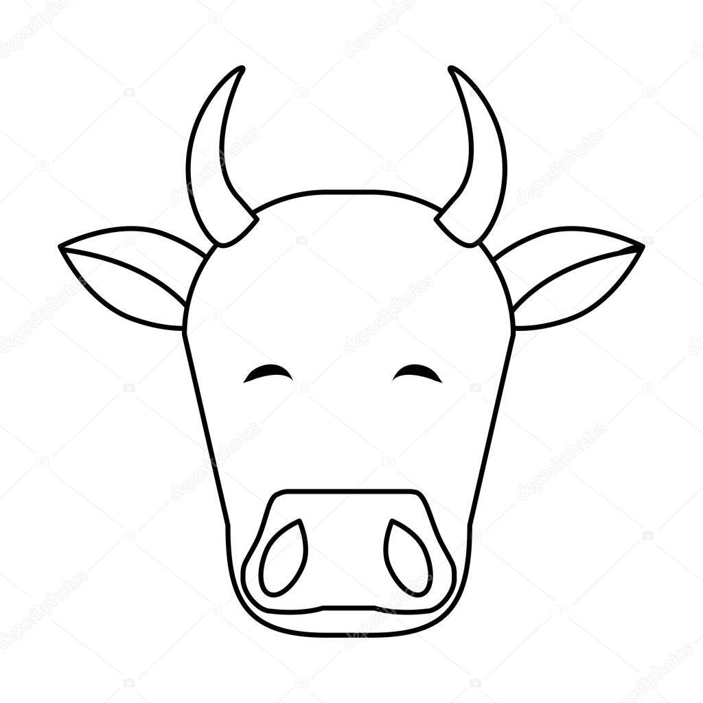 Hindistan Inek Kafası Stok Vektör Jemastock 132576816