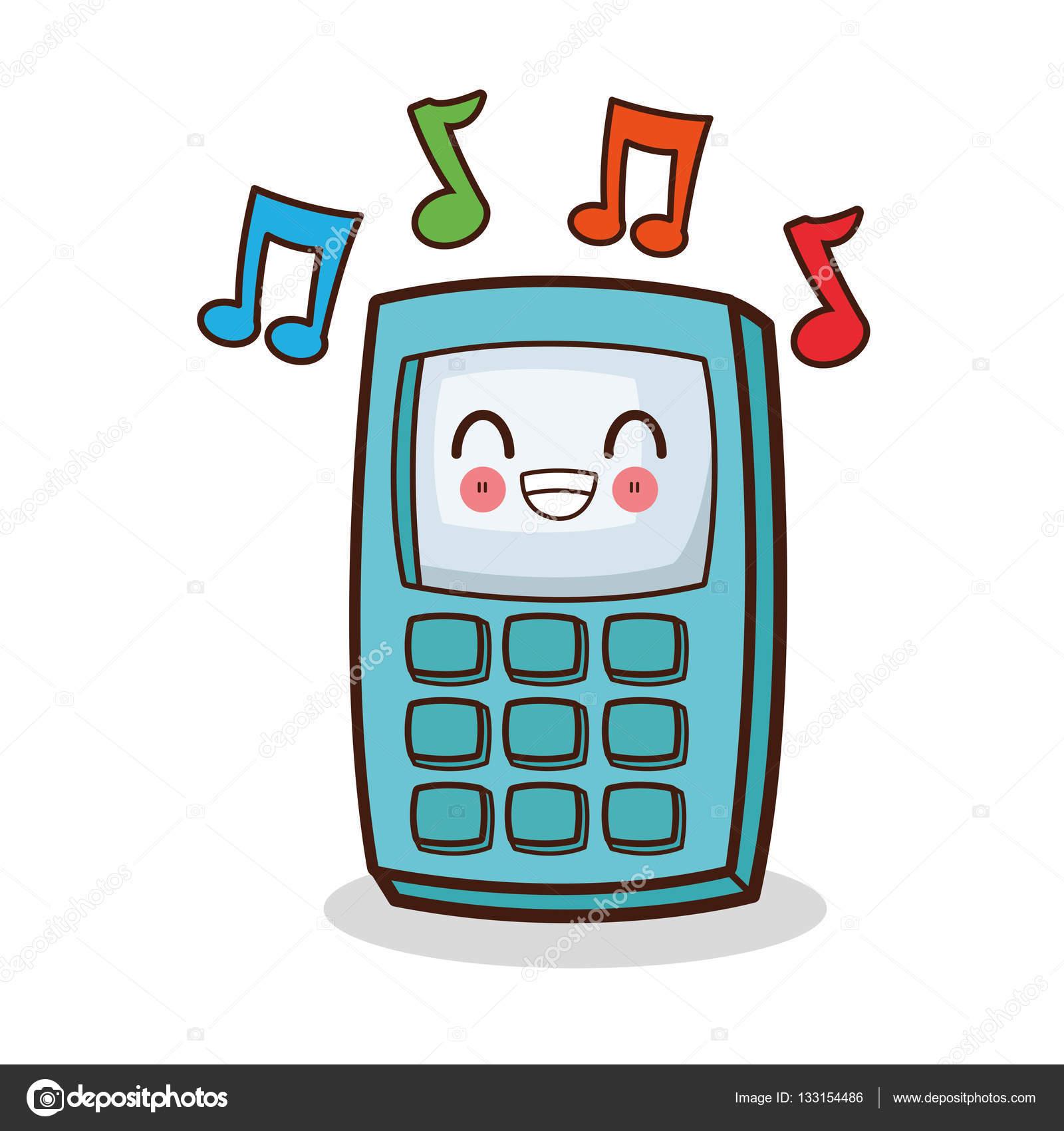 conception de t l phone portable kawaii isol image vectorielle jemastock 133154486. Black Bedroom Furniture Sets. Home Design Ideas