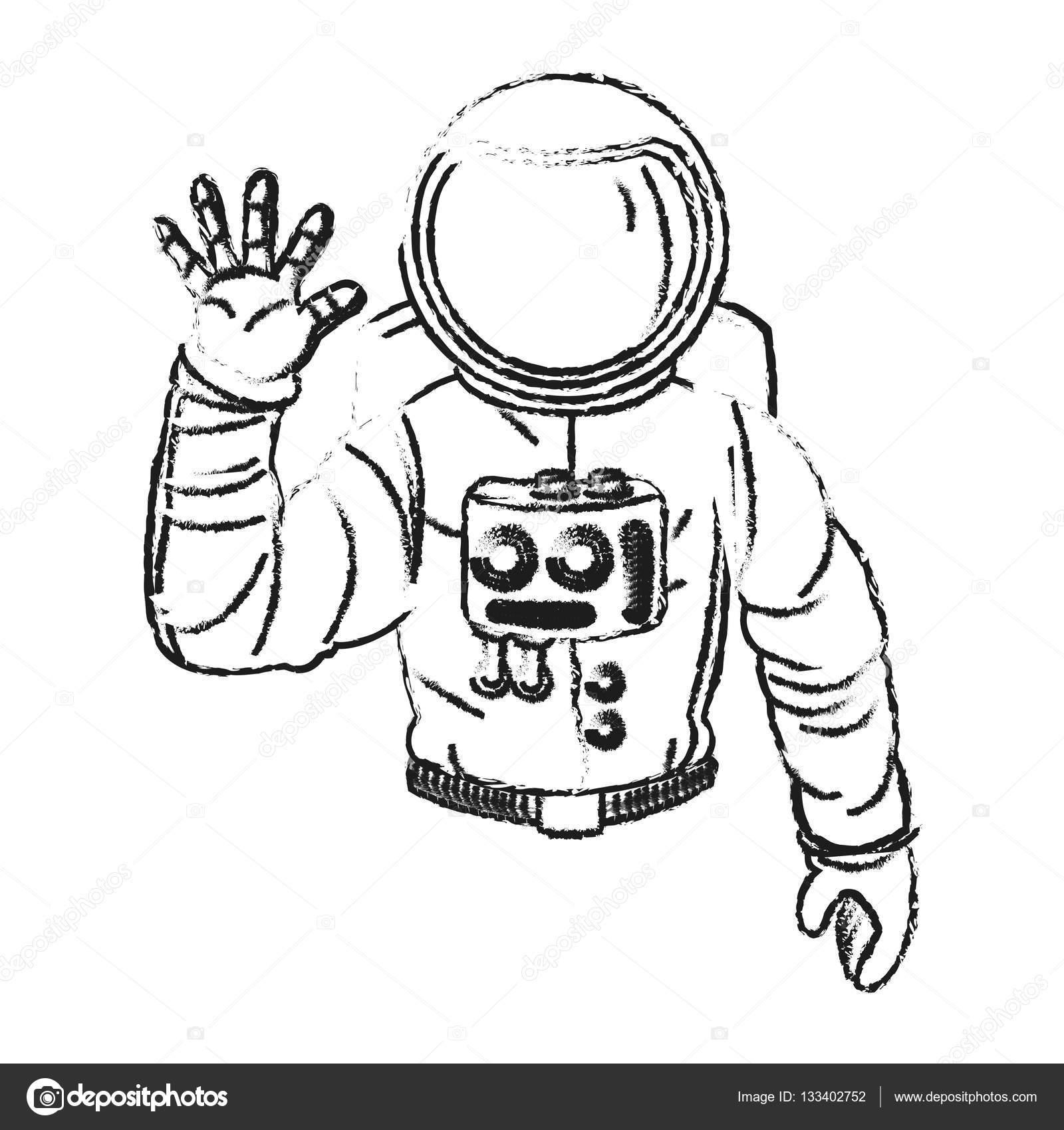 Dise O De Dibujos Animados De Astronautas Aislados