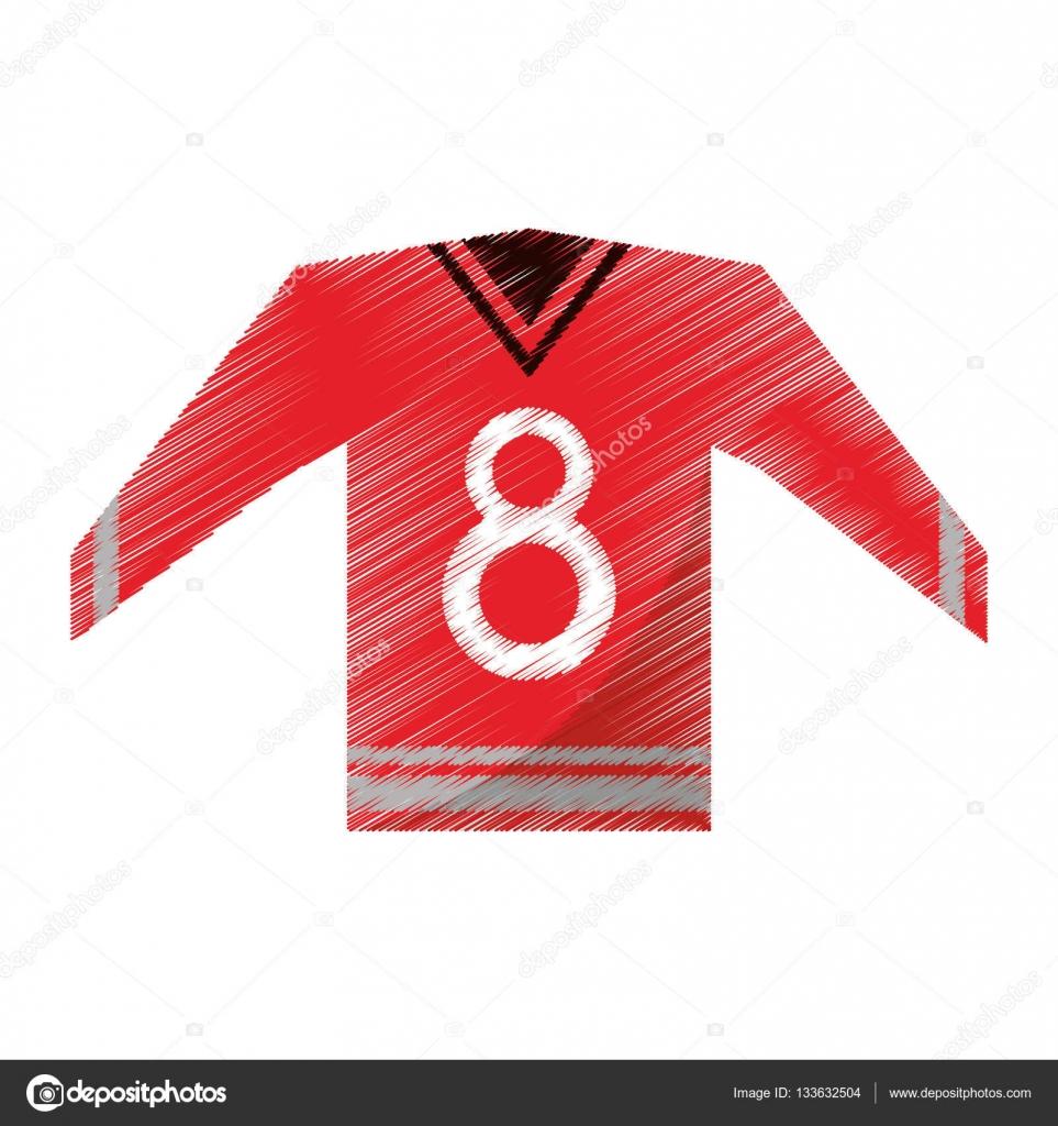 73538106c Barevný červený dres kanadské hokejové lední Grafický vektorový obrázek eps  10 — Vektor od ...