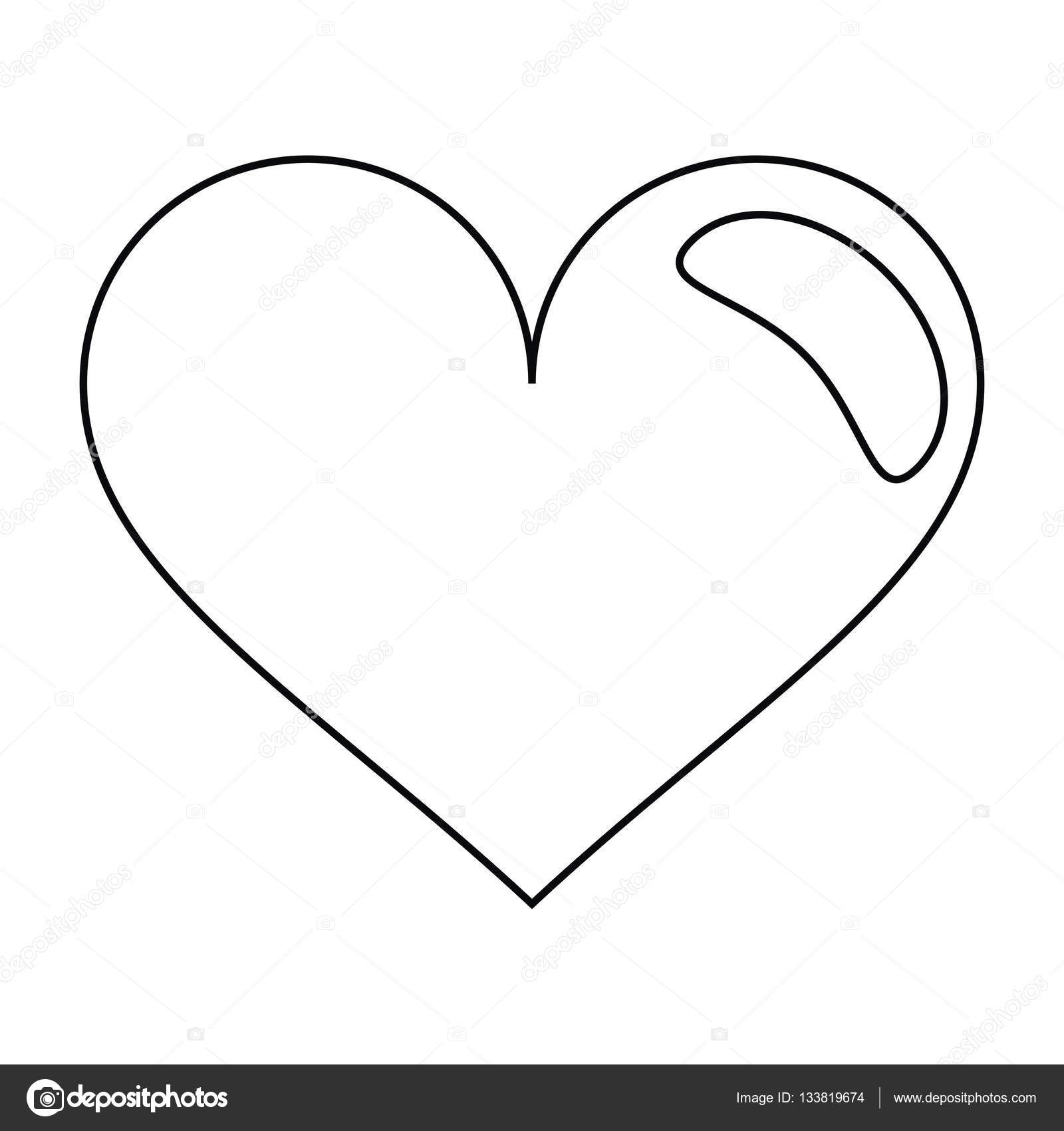 Heart love romantic symbol outline stock vector jemastock heart love romantic symbol outline stock vector buycottarizona Image collections