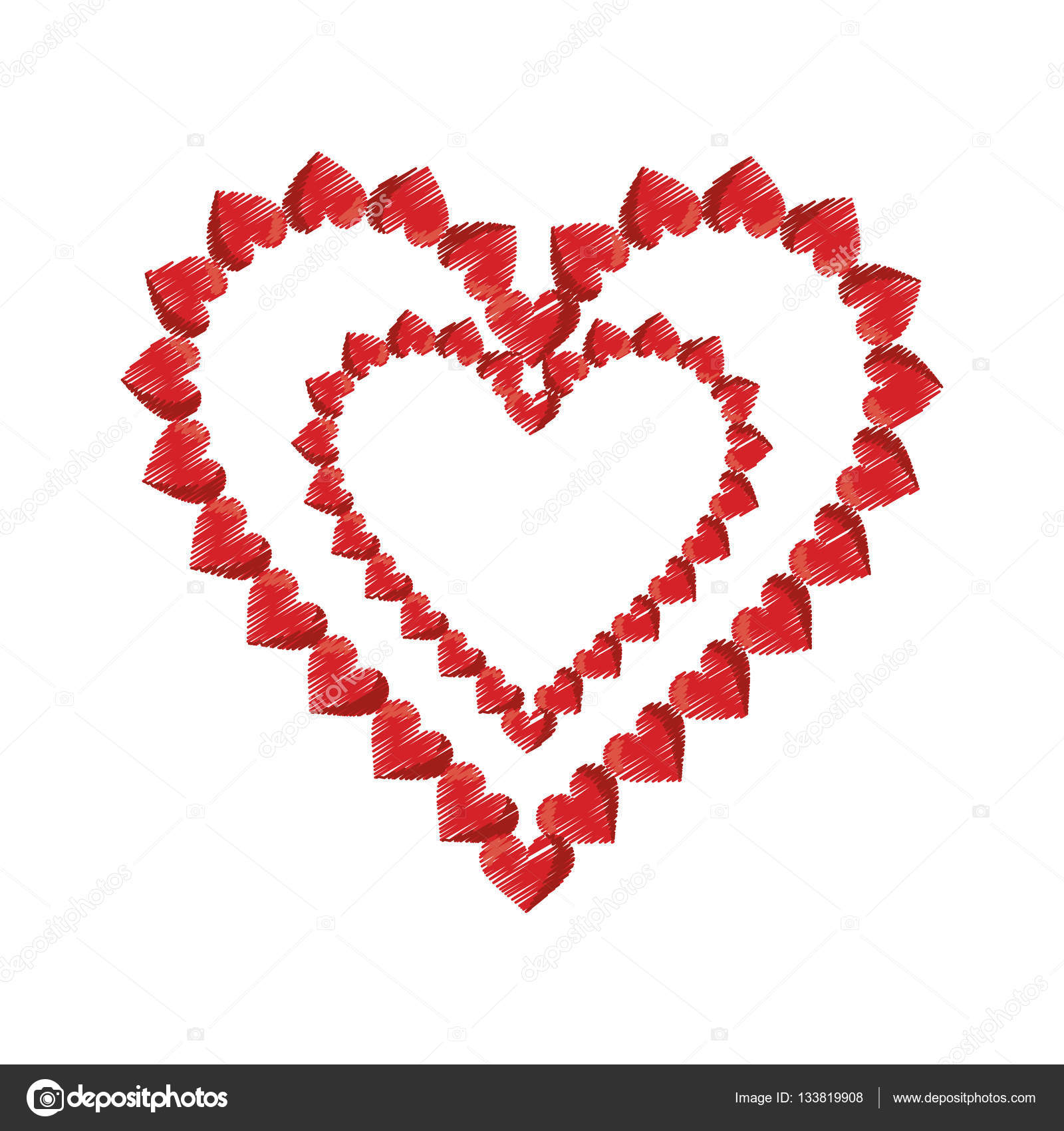 99fcd633c6ec18 Desenho coração dia dos namorados decorativa — Vetores de Stock ...