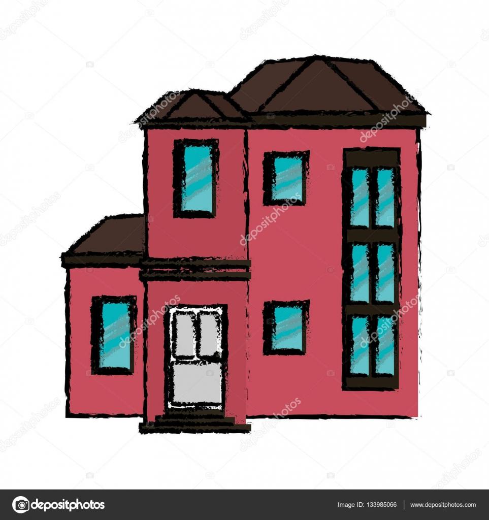 Haus Urban Teuer Vektor Illustration Eps 10 Zeichnung U2014 Vektor Von Jemastock