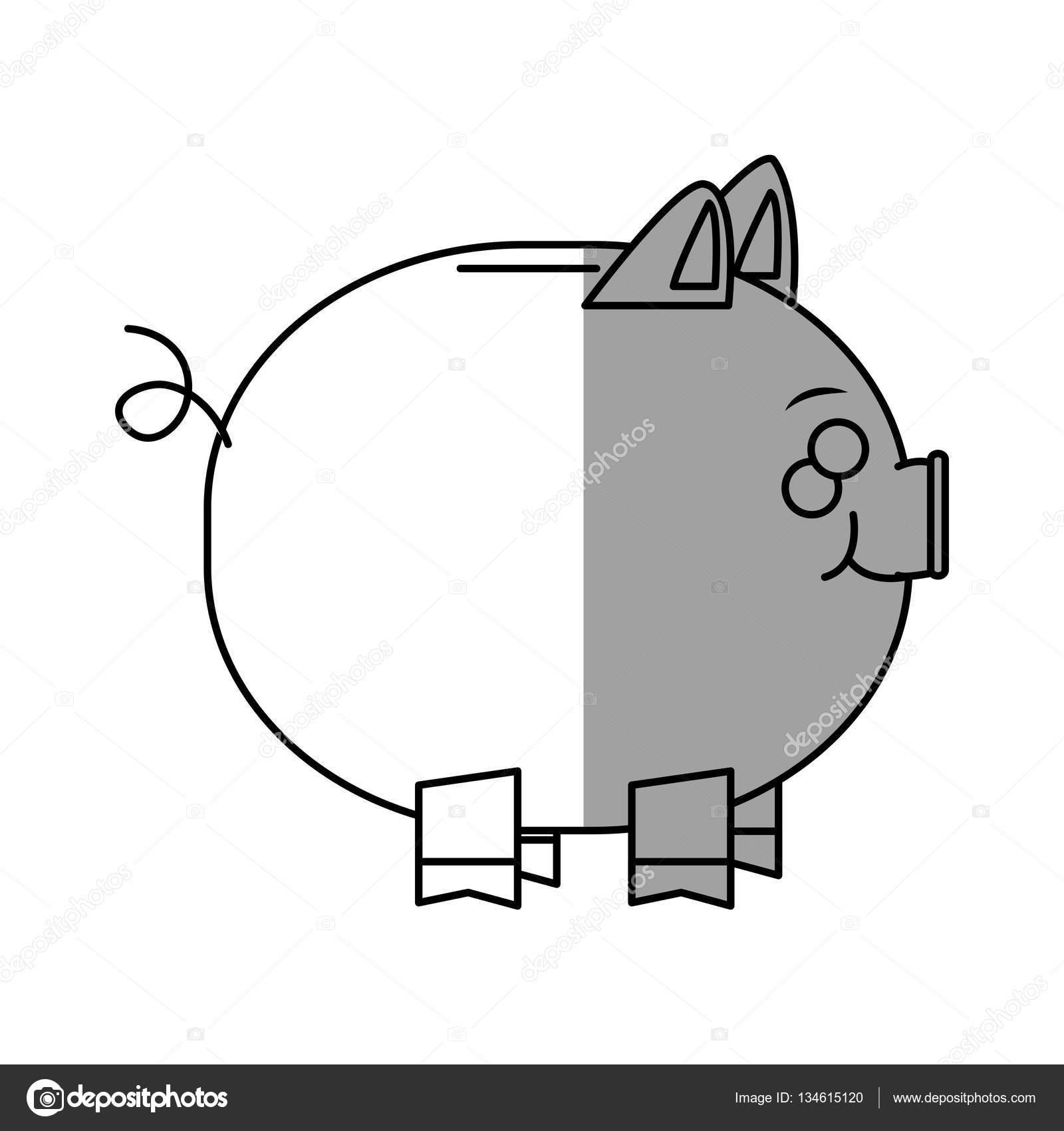 Imágenes Comercio Para Colorear Piggy Diseño Aislado