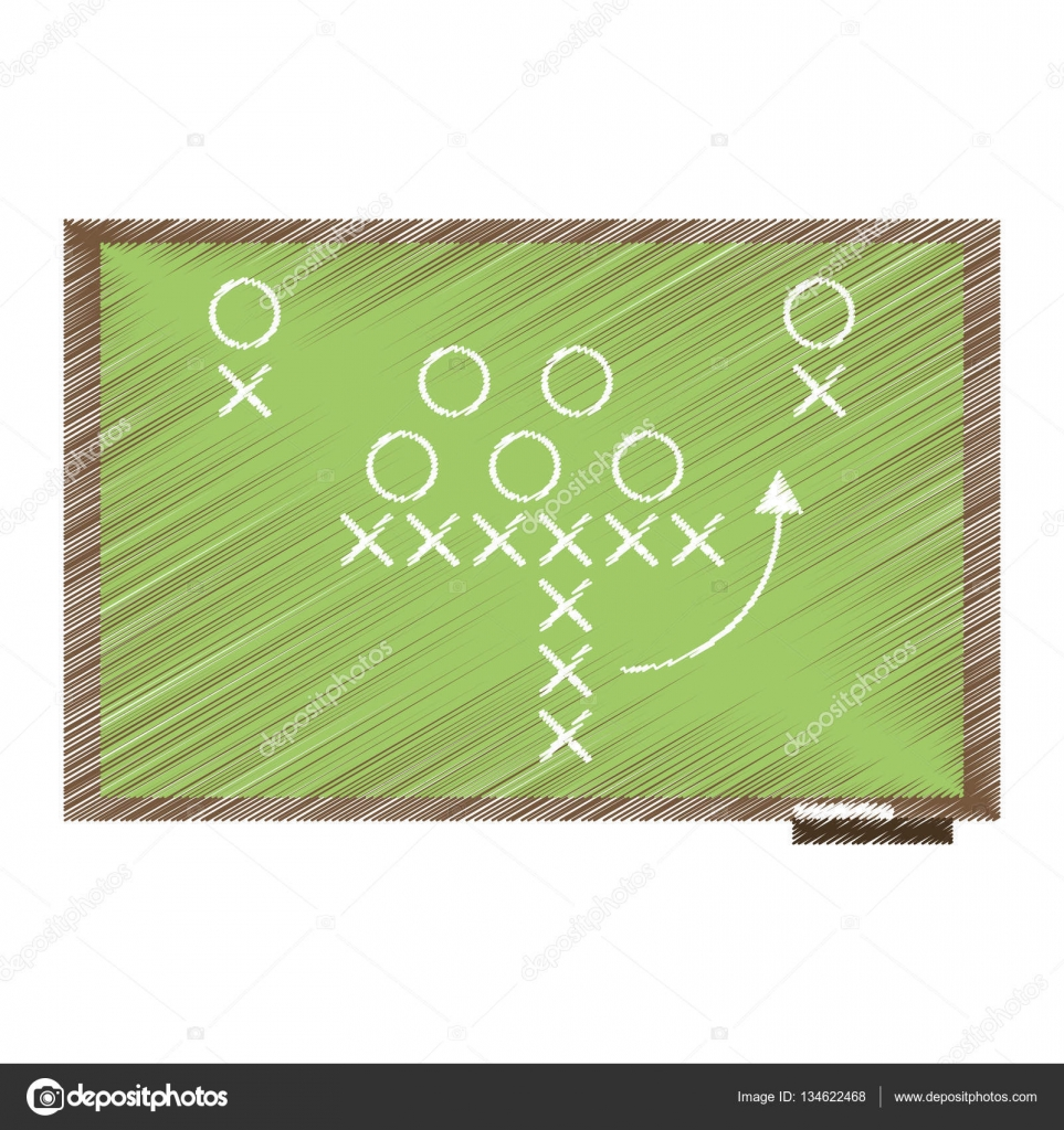 Drawing sport tactics chalkboard american football stock vector drawing sport tactics chalkboard american football stock vector biocorpaavc