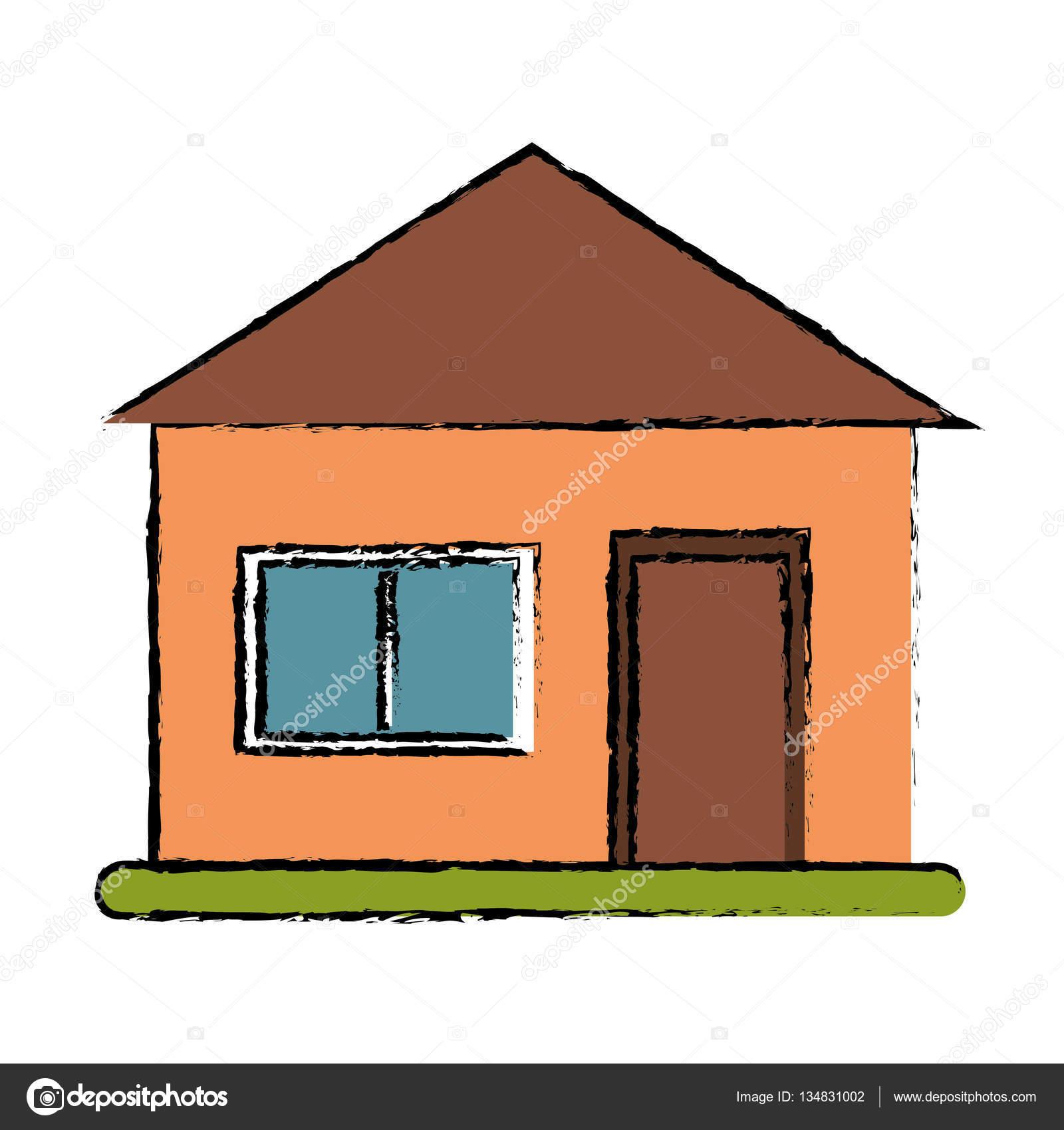 Haus S Architektur Grasgrun Vektor Illustration Eps 10 Zeichnung Von Jemastock