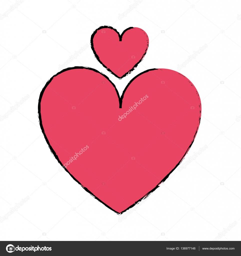 Dessin symbole romantique de l amour coeur image vectorielle jemastock 136977146 - Dessin de l amour ...