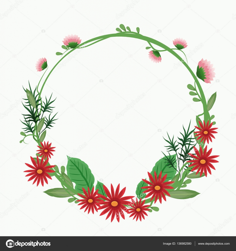 Red flower crown leaf delicate ornament stock vector jemastock red flower crown leaf delicate ornament stock vector izmirmasajfo Images